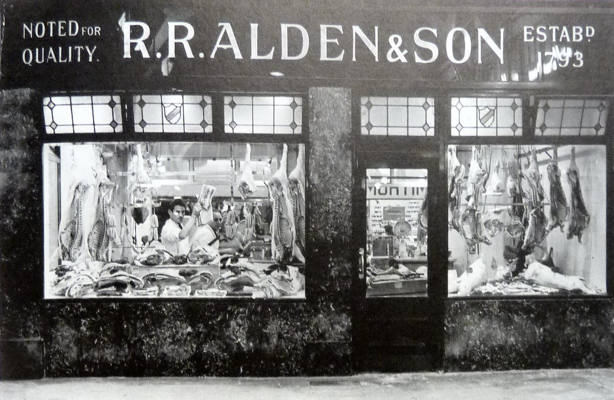 A photograph of Alden's butchers