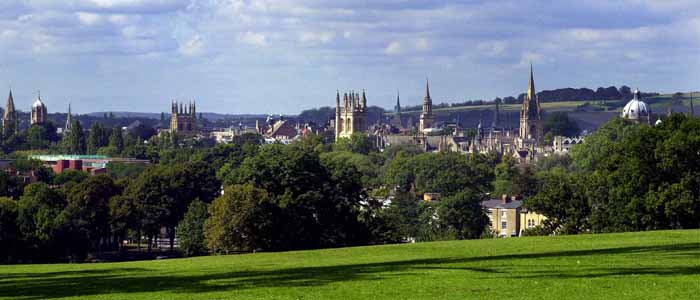 View of Oxford skyline from South Park
