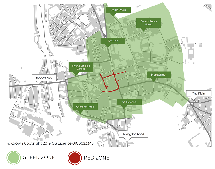 Map of green zone