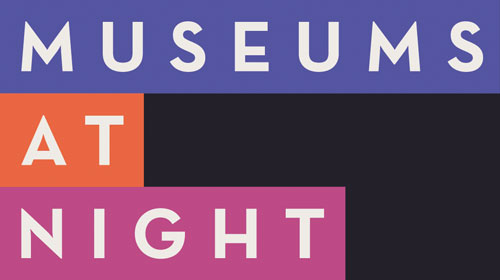 The logo for Museums at Night