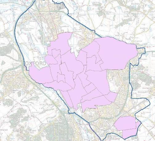 Map of Smoke Control Areas in Oxford