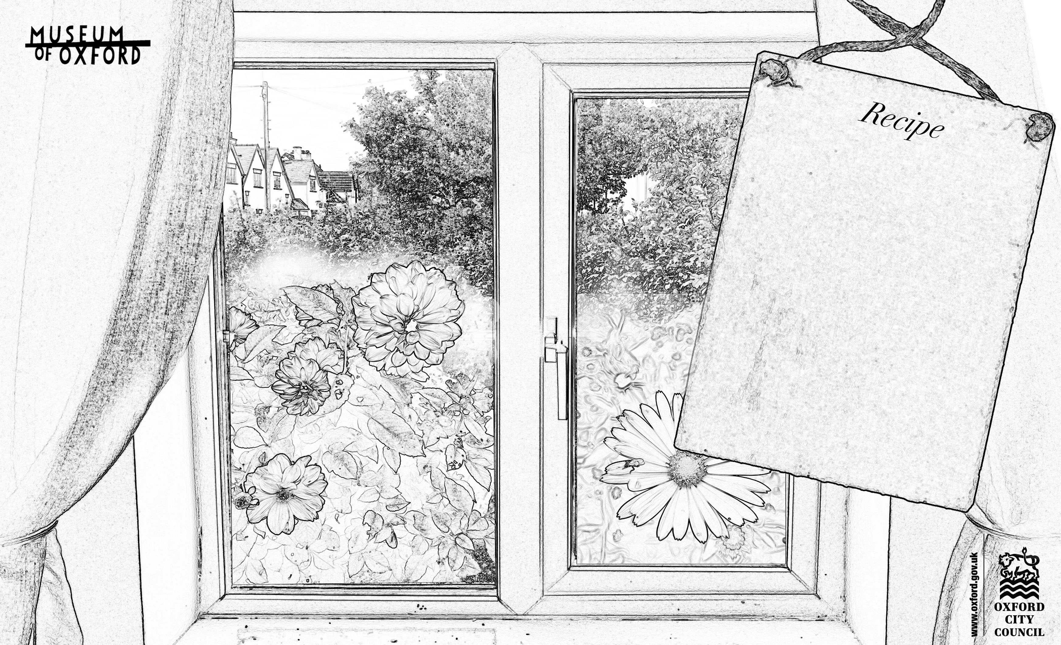 A drawing of a window used for a museum activity
