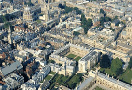 Oxford from overhead
