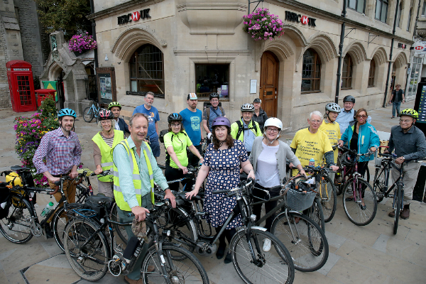 Group image of cycle to work day