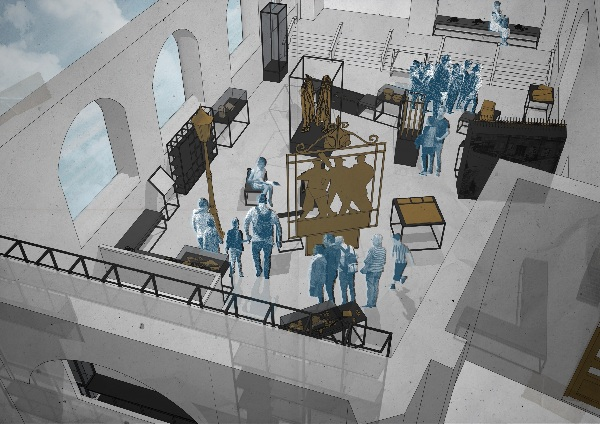 A plan view of the gallery as it will look when redeveloped during Oxford's Hidden Histories