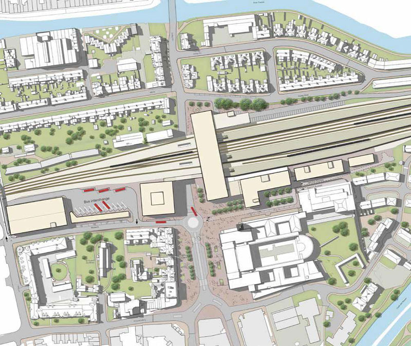 Oxford Station illustrative masterplan