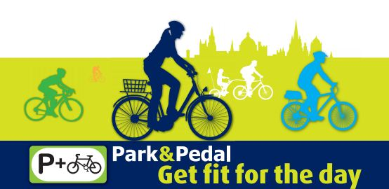 Park and pedal logo