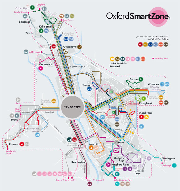 Oxford Smartzone map