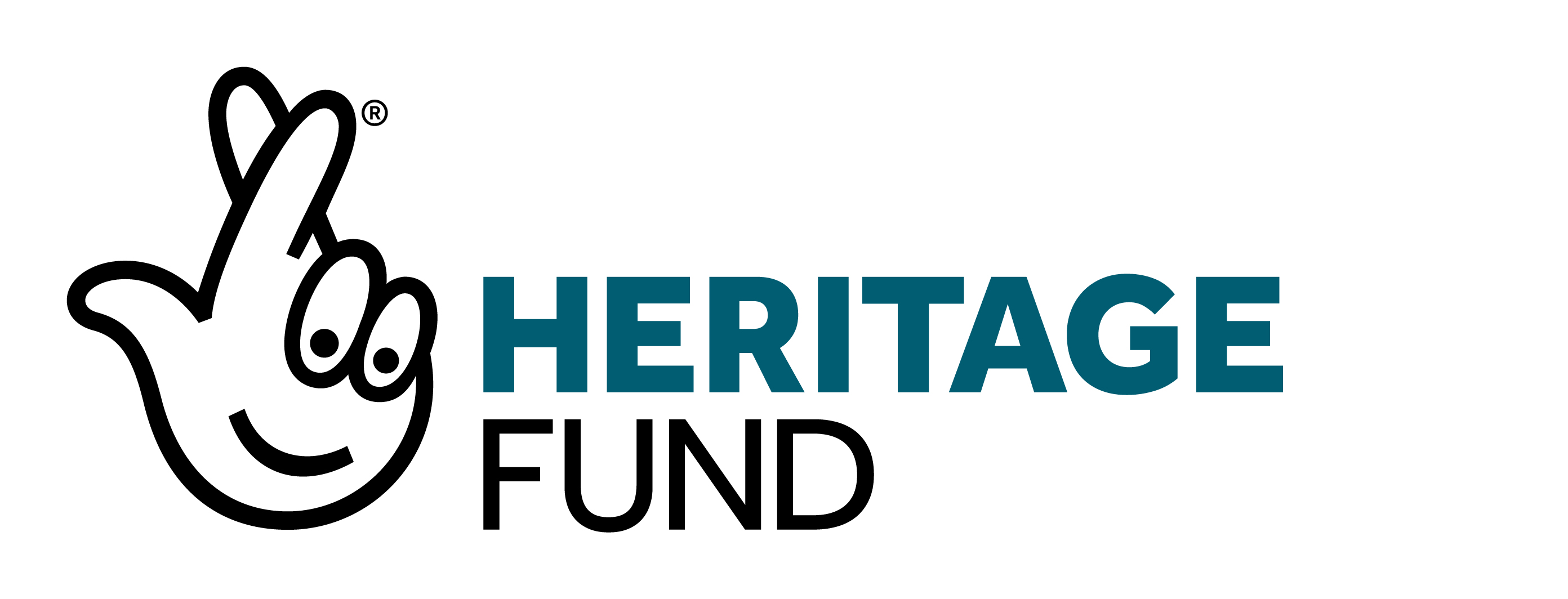 The Heritage Fund logo with crossed fingers