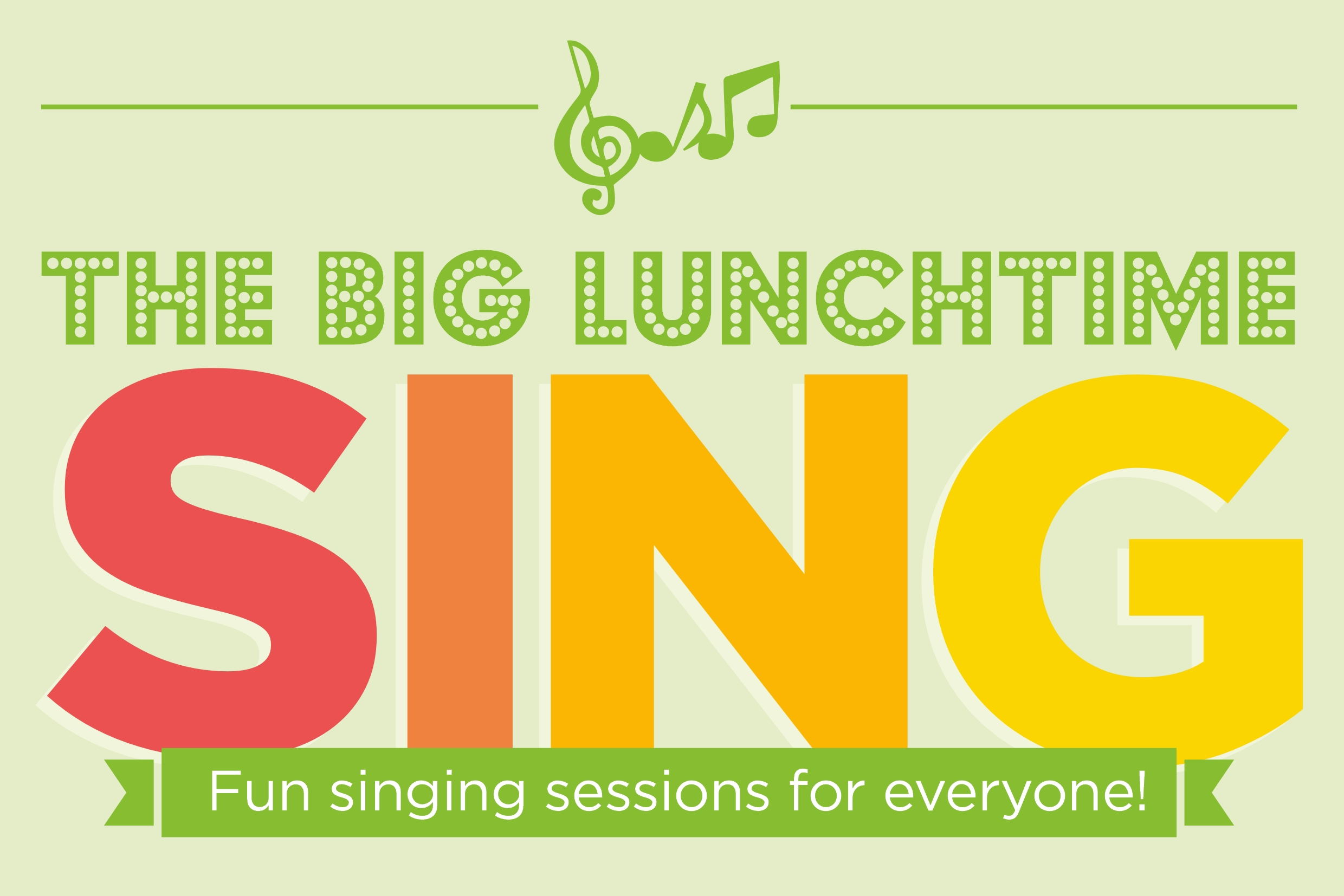 The big lunchtime sing graphic
