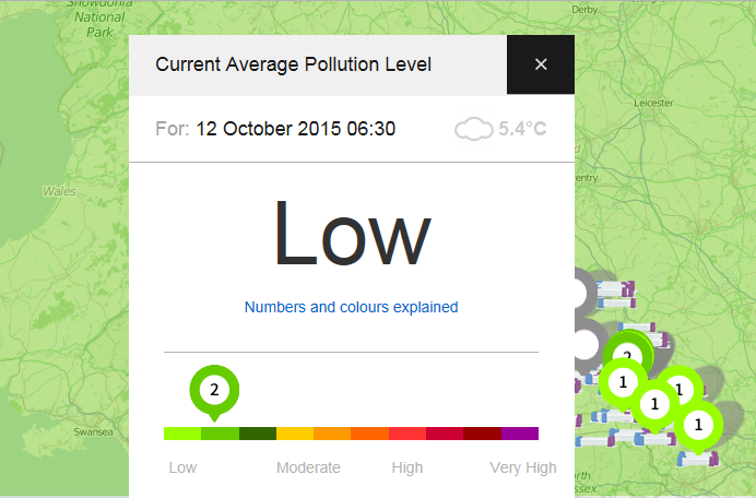 Air quality website