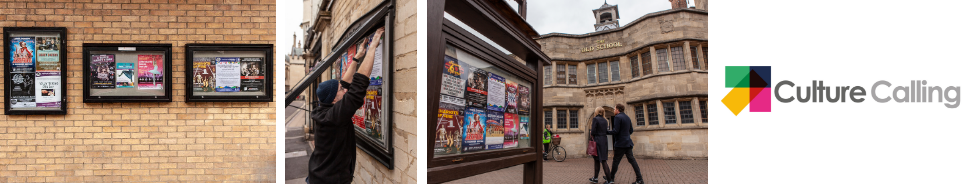 Montage of poster board sites in Oxford