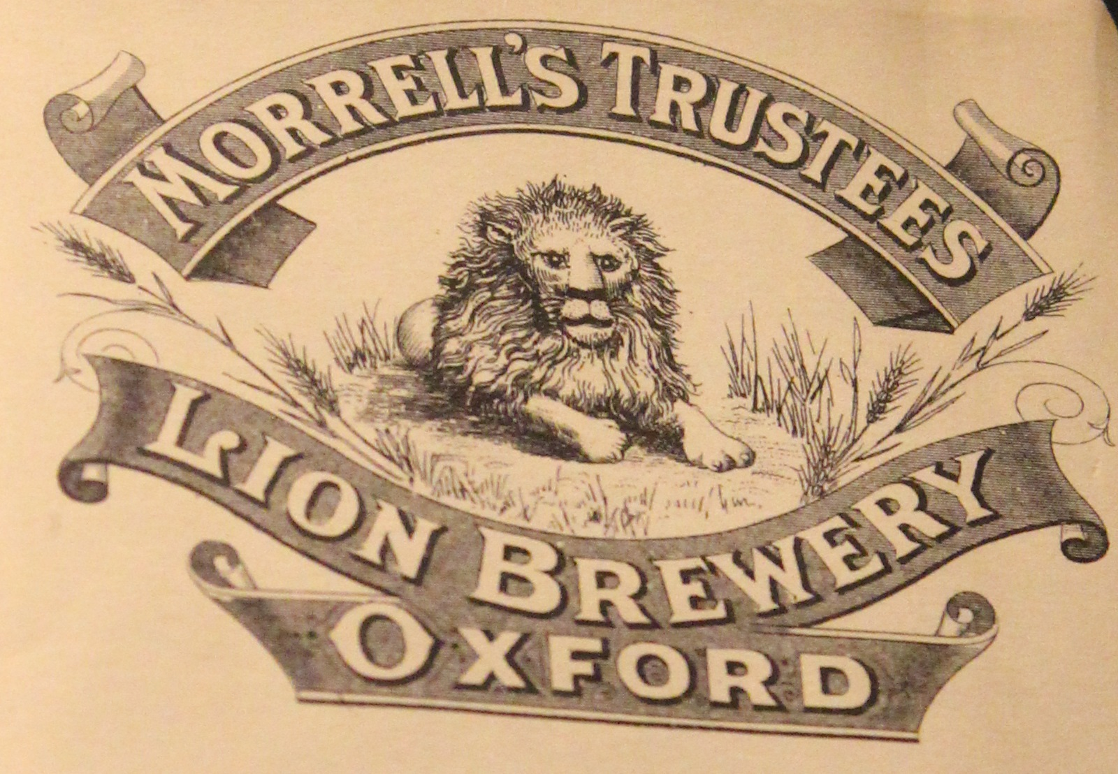 The Morrells trustees Lion Brewery logo featuring a lion
