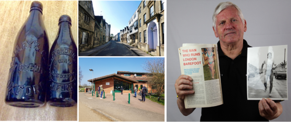 A collage including images collected through the Oxford City Stories website