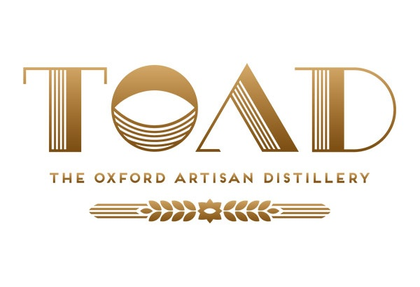Logo for the Oxford Artisan Distillery in gold